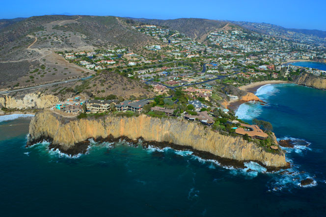 Aerial View of Abalone Point in Laguna Beach, California