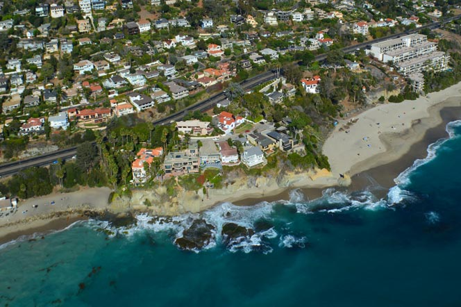 Aerial View of the Camel Point Laguna Beach Community