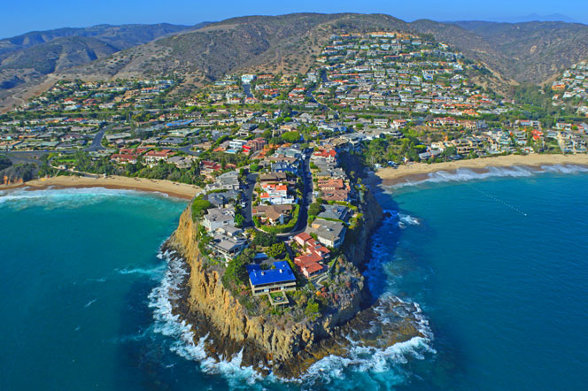 Aerial View of Emerald Point in Laguna Beach, California