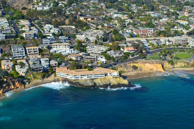 Aerial View of Laguna Seacliff Condo Building in Laguna Beach, CA