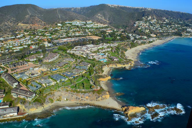 Aerial View of Montage Ocean View Homes in Laguna Beach, CA