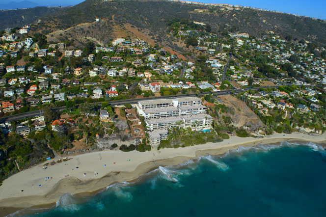 Aerial View of Laguna Royale Laguna Beach Condo Building