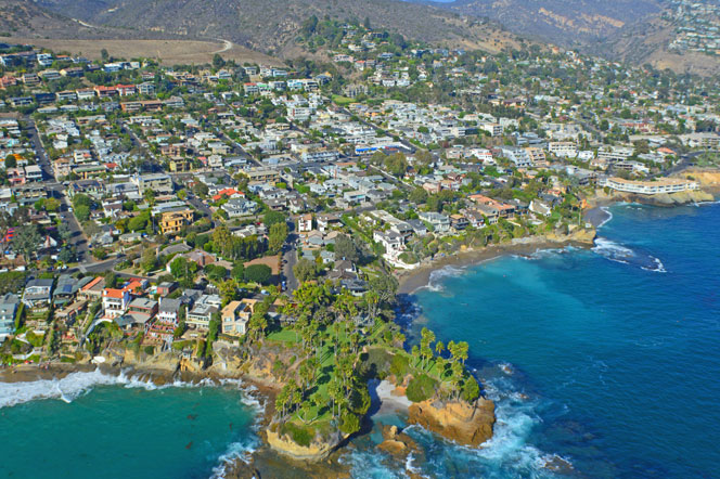 Aerial View of Twin Points In Laguna Beach, California