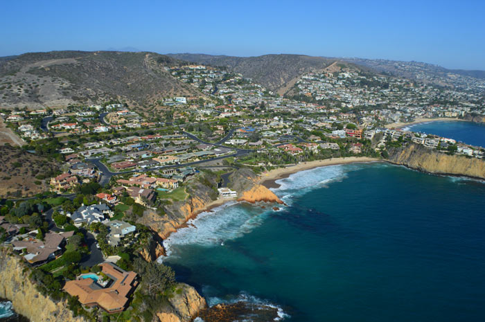 Aerial Photography of Irvine Cove Community in Laguna Beach, CA