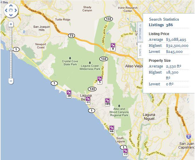 Laguna Beach Map Search | Laguna Beach Real Estate