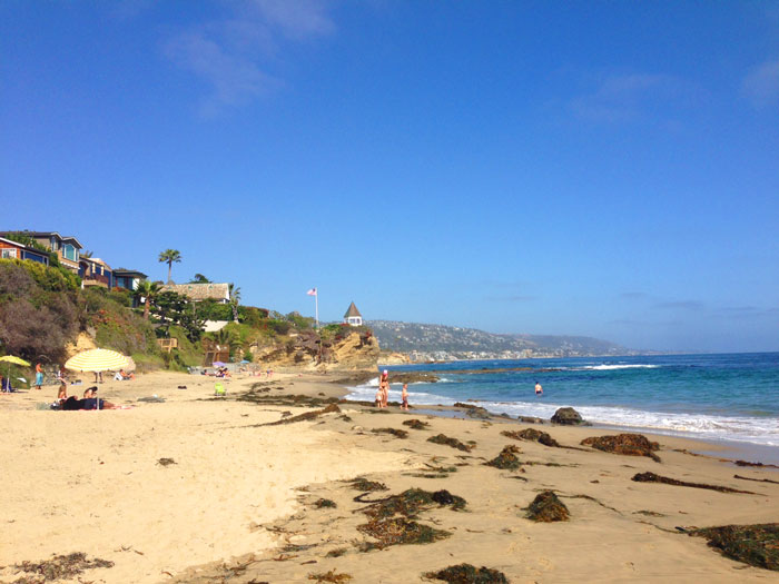 Shaw's Cove Beach in Laguna Beach, California