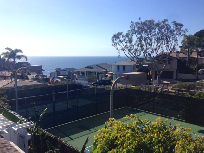 Three Arch Bay Tennis Court in Laguna Beach, California