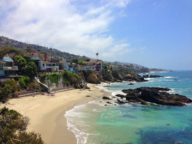 View of Woods Cove Beach in Laguna Beach, Californi